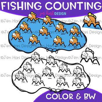 Counting Clip Art - Fishing Counting {jen hart Clip Art}