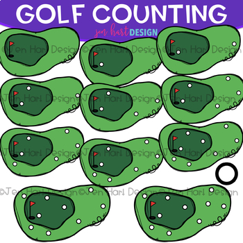 Counting Clip Art - Golf Counting {jen hart Clip Art}