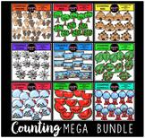 Counting Clip Art Mega Bundle  {Educlips Clipart}