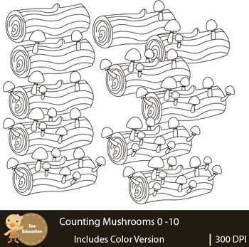 Counting Clip Art : Mushrooms | Fall Pictures