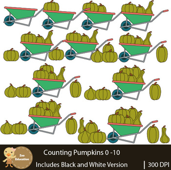 Counting Clip Art : Pumpkins | Fall Pictures