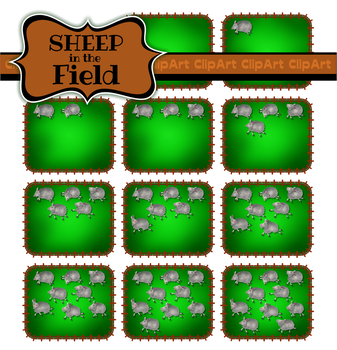 Counting Clip Art Sheep in a Farmers Field