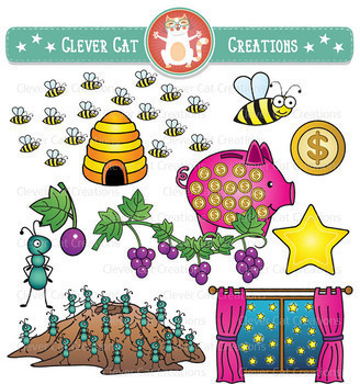 Counting Clip Art Variety Bundle: 1-20