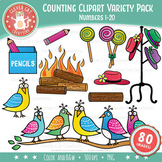 Counting Clip Art 1-20 Bundle