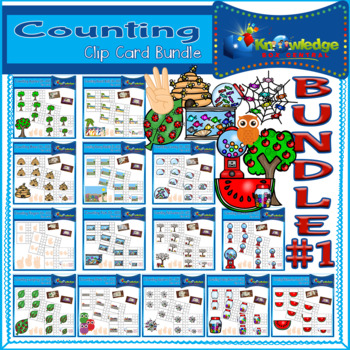 Counting Clip Cards (0-10) BUNDLE #1