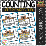 Counting Ten Frame Clip Cards 0-10: Groundhog Day