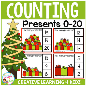 Counting Picture Clip Cards 0-20: Christmas Presents