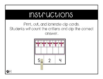 Counting Clip Cards {Freebie}