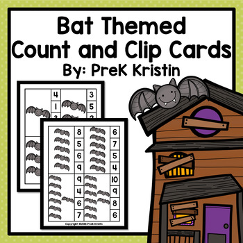 Counting Clip Cards: Bat Theme