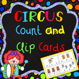 Count and Clip Cards - Numbers 1-20 - Circus Theme
