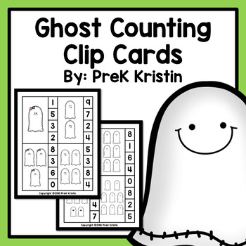 Counting Clip Cards: Ghost Theme