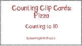 Counting Clip Cards: Pizza