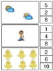 Counting Clip Cards Pre K, K, and Grade 1 Spring Theme