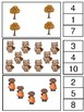 Counting Clip Cards Pre K, K, and Grade 1 Autumn Theme