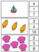 Counting Clip Cards, Pre K, K, and Grade 1 Summer Theme