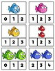 Counting Clip Cards: Smiley Fish