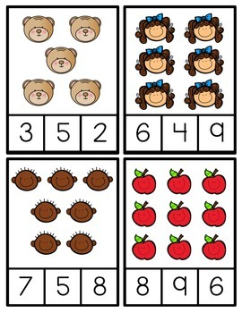 Counting Clip Cards {Task Cards}