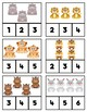 Counting Clip Cards: Wild Animals