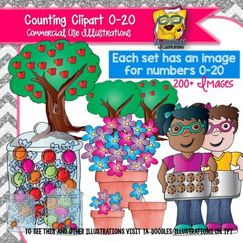 Counting Clip art BUNDLE
