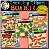 Counting Clipart BUNDLE Summer