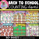 Back-to-School Counting Clipart MEGA BUNDLE {DobiBee Designs}