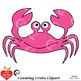 Counting Clipart, Colored Crab Clipart, Math Manipulatives, AMB-2246