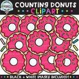 Counting Clipart: Donuts {donut clipart}