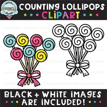 Counting Clipart: Lollipops {lollipop clipart}
