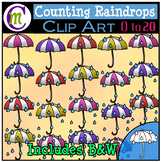 Counting Clipart Raindrops