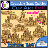 Counting Clipart Sand Castles