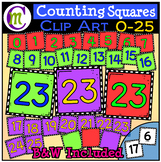 Counting Clipart Squares 0-25