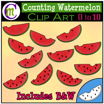 Counting Clipart Watermelon