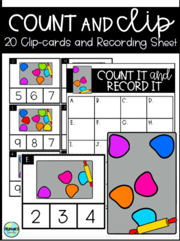 Counting Clipcards Kindergarten, Back to School