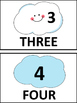 Counting Cloud Cards for Kindergarten (Flash cards and/or Bulletin Board Cards)