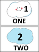 Counting Cloud Cards for Kindergarten (Flash cards and/or