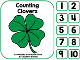 Counting Clover- St. Patrick's Day Adapted Counting Book {Early Childhood}