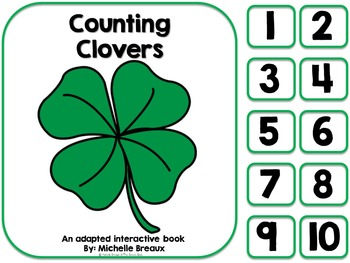 Counting Clover- St. Patrick's Day Adapted Counting Book {