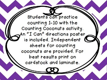 Counting Coconuts Math Activity