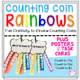 Counting Coin Rainbow Craftivity Plus Posters and Task Cards