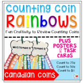 Counting Coin Rainbow Craftivity Plus Posters and Task Car