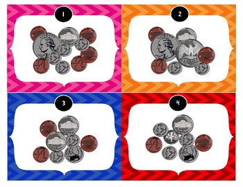 Counting Coin Task Cards