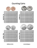 Counting Coins - 1-100 chart illustrations of coin value