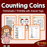 Counting Coins Worksheets with Answer Keys, Coin Identification Sheets