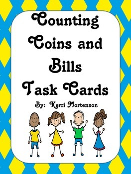 Counting Coins and Bills Task Cards