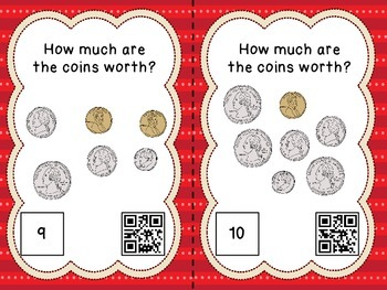 Counting Coins - 24 Task Cards with QR Codes for Self-Checking