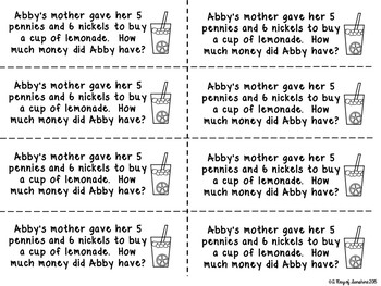 Counting Coins Word Problems {Problem of the Day}