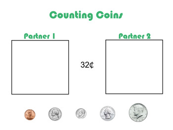 Smartboard Counting Coins w/ a Partner