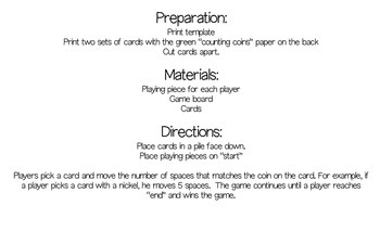Counting Coins: A Game of Coin Identification