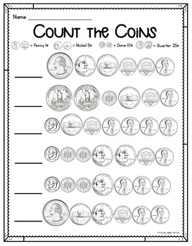 Counting Coins- Money Centers and Activities
