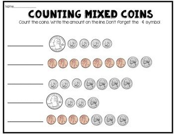 Counting Like Coins Activities